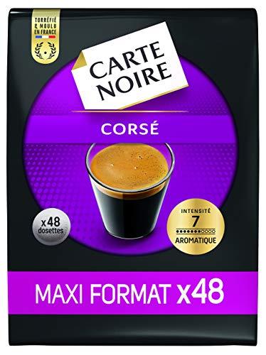 Carte Noire Expresso Corsé N°7, Café en Dosettes Compostables Compatibles Senseo, Paquet de 48 dosettes souples