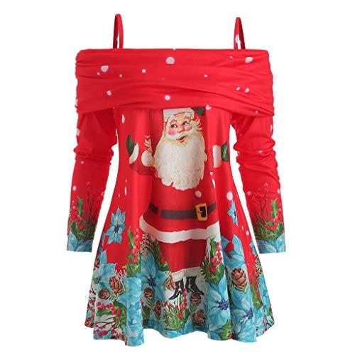 Pull Noel Femme Sweat Long Pulls de Noël Sweat Shirt Noel Moche Femme Sweat Long Sweat Hors Épaule Chandail