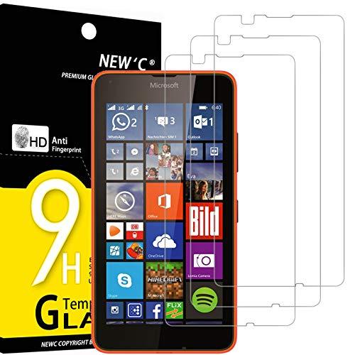 NEW'C 3 Pezzi, Vetro Temperato Compatibile con Nokia Microsoft Lumia 640, Pellicola Prottetiva Anti Graffio, Anti-Impronte, Durezza 9H, 0,33mm Ultra Trasparente, Ultra Resistente