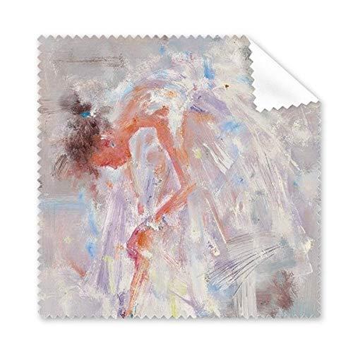 Ballet Meisje XJJ Olieverfschilderij Bril Doek Schoonmaken Doek Telefoon Scherm Cleaner 5 stks Gift