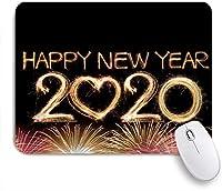 NINEHASA 可愛いマウスパッド 2020年明けましておめでとう花火 ノンスリップゴムバッキングコンピューターマウスパッドノートブックマウスマット