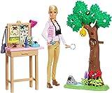 Barbie Métiers National Geographic Coffret Étude des Papillons, Poupée et Accessoires, Jouet pour Enfant, GDM49