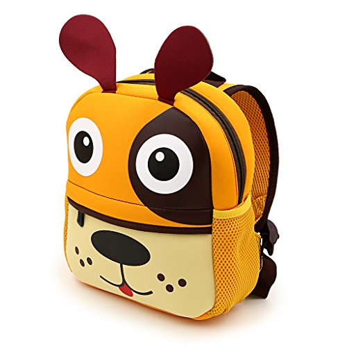 Ignpion - Bellissimo zainetto per bambini, motivo animale stile cartone animato in 3D, ideale per nido d'infanzia o scuola dell'infanzia, Puppy