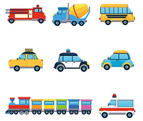Eurographics Deko Set, Kunststoff, Magnete Colorful Cars, 20.5 x 11.5 x 1.8 cm