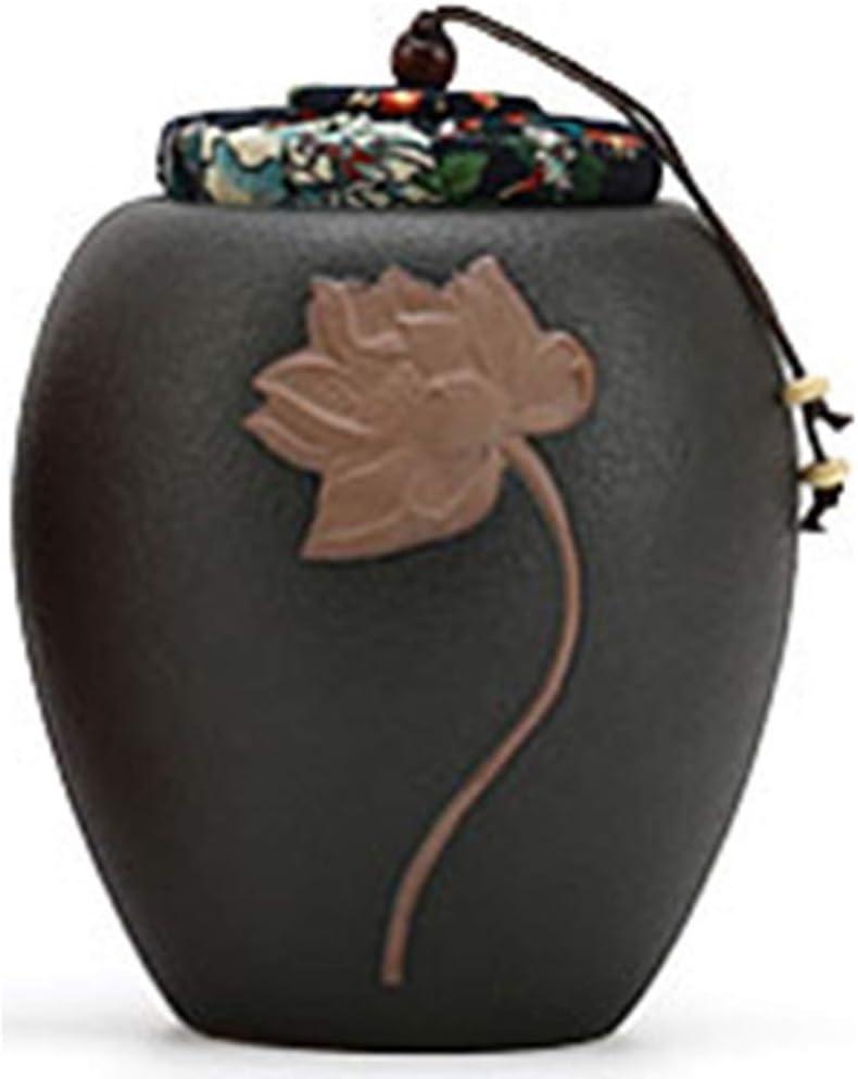 CHOUCHOU Colgante Pendientes Mascota Urna Caja Gato Perro Muerte Crematorio Bote Cerámica Ceniza Recuerdo Medio Eucalipto