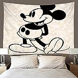 shuimanjinshan Tapiz Mickey Mouse Tapiz De Pared Decoración De La Habitación Sábana De Picnic Mantel (A-1518) 240X260Cm