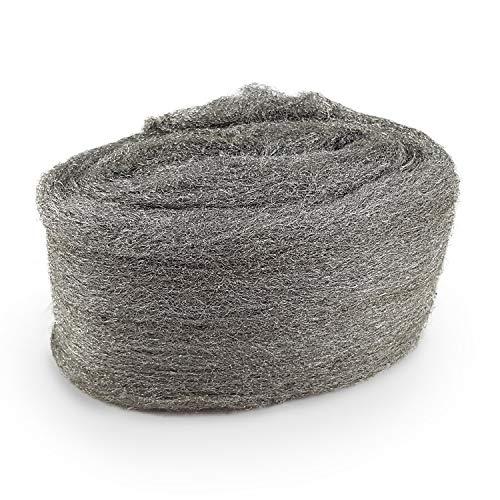 CZ Store®-Lana de acero|GRADO 0000|✮✮GARANTÍA DE POR VIDA✮✮-Lana de alambre de acero inoxidable resistente a los arañazos|120 G|Lana de hierro para el mantenimiento de la madera/vidrio/metal