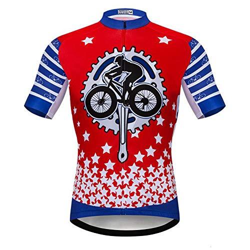 Maglia da ciclismo da cartone animato per uomo, maglietta per bicicletta a ciclo compresso elastico ad asciugatura rapida
