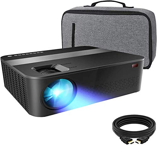 "Projector for Outdoor Movies 7000 Lux 1080P projectors with max 400"" Diagonal,Support 4K Dolby and Zoom,Business & Home & Outdoor Projector Compatible with TV Stick,HDMI,VGA,USB, Smartphone,PC,Xbox"