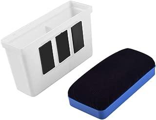 WXJ13 Plastic Magnetic Marker Holder Dry Erase Organizer Magnetic Holder for Whiteboard with 1 Piece Magnetic Eraser