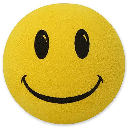 Tenna Tops Happy Smiley Face Head Car Antenna Topper/Antenna Ball/Auto Mirror Dangler/Desktop Bobble Buddy (Lemony Yellow)
