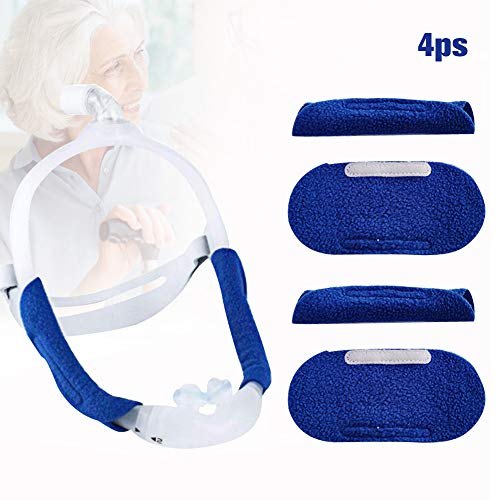 CPAP Face Mask Strap Covers, Universal and ReusableCPAP Mask Pads, Extremely Comfortable Soft Fleece Cushion Strap CPAP Supplies, CPAP Machine for Sleep Apnea.[Pack of 4]