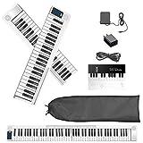 SEAAN Piano eléctrico plegable de 88 teclas, Bluetooth, MIDI, pedal de salida, aplicación inteligent...