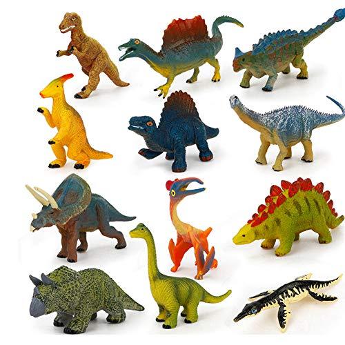 Alivier 12 STÜCKE Mini Tier Spielzeug Set Kunststoff Pädagogische Dinosaurier Spielzeug Dschungel Tier Spielzeug