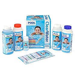 Award Winning Starter Set: includes everything you need to get started with your above ground swimming pool or paddling pool for hygienic and pristine water Includes: 500g chlorine, 700 g pH minus 500 g pH plus, 500 ml algaecide, 25 test strips and a...