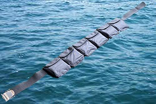 AKM-Scuba Diving Pocket Weight Belt Large Black (6 Pocket)