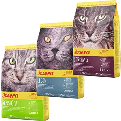 Josera Die Gourmetvariation für die Katze: je 2 kg SensiCat, Léger & Carismo