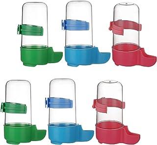 POPETPOP 6Pcs Bebedero Automático para Pájaros Comedero para Pájaros Botella de Agua para Pájaros Dispensador de Contenedo...