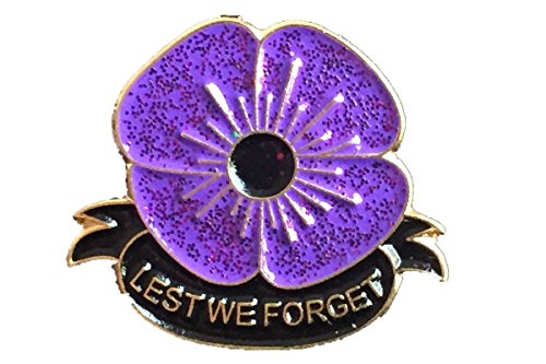 T-Tiny RARE 2019 World War Animals UK Military Soldier Army Remembrance Day Purple Poppy Brooch Enamel Pin Badge Brooch
