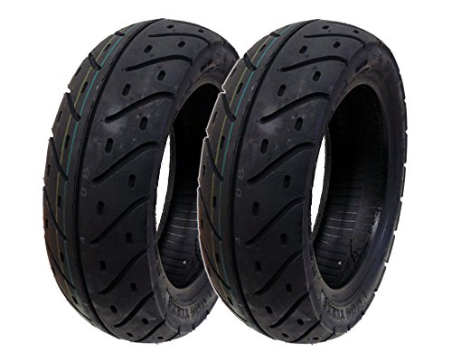 MMG Set of 2 Tires 120/70-10 Tubeless Front/Rear Motorcycle Scooter Moped