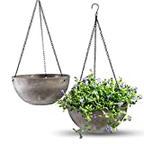 """Hanging Planters for Outdoor Indoor Plants, Hanging Flower Pots with 2 Drainage Holes and Plug, Hanging Plant Holder for Home Balcony Garden Decor(10"""",Flower NOt Included)"""