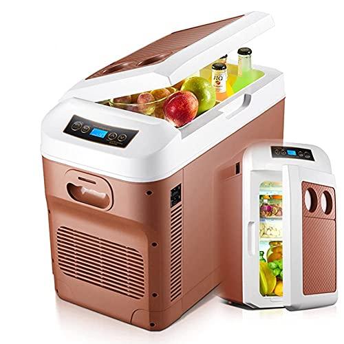 FHKBK Mini refrigerador con congelador de 28L para Coche/camión, 24 V / 12 V / 220-240 V, Enfriador eléctrico para Conducir, Viaje, Uso doméstico