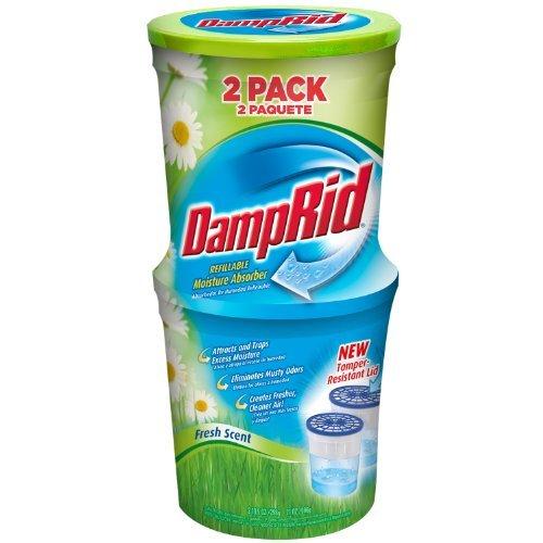 DampRid FG60FS Moisture Absorber, Fresh Scent, 10.5-Ounce, by DAMPRID