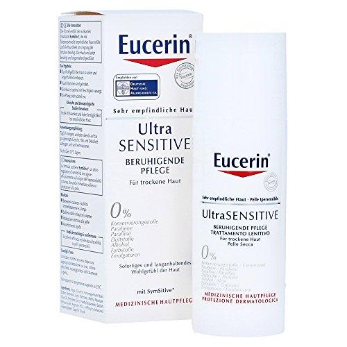 Eucerin UltraSensitive beruhigende Pflege für trockene Haut, Creme, 50ml, 4er Pack (4 x 50ml)