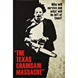 Picture Peddler Laminated Texas Chainsaw Massacre- Leatherface Silhouette Poster 24 x 36in