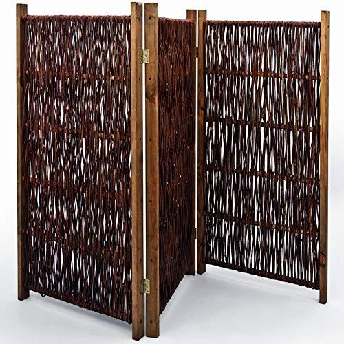 NOOR Weiden-Paravent 180 x 180 cm 3teilig