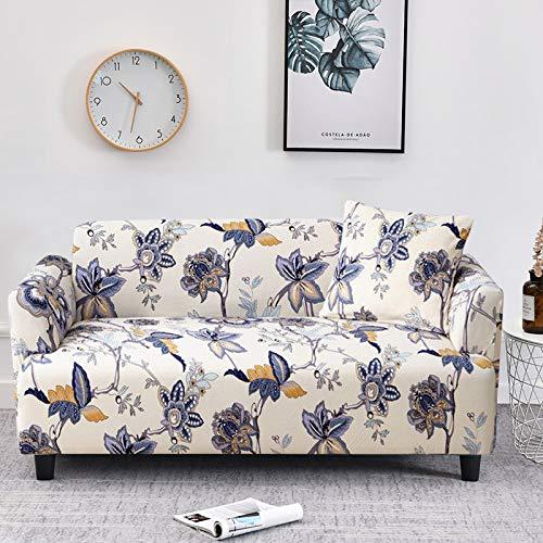 Funda de sofá elástica Fundas de sofá a Cuadros para Sala de Estar Funda para Silla de sofá Totalmente Envolvente Sillón Protector Antipolvo para Muebles A18 3 plazas