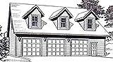 Garage Plans: Three Car Garage with Loft Apartment (Truss Version) - Plan 2280-2