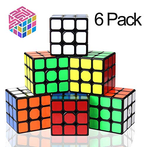 Speed Cube Set, 3x3x3 56mm Professional Magic Cube Set, IQ Games for All Age Kids [6 Pack]