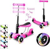 WeSkate Scooter for Kids,Scooters for Toddlers Girls & Boys,Removable Seat & Adjustable Height,Design for Children Ages 2-8