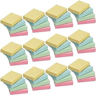 50 Pads Tiny Sticky Notes, 100 Sheets/Pad, 4 Colors Mini Sticky Notes, 1 1/2 x 2 Plain Small Removable Self Stick On Note ...