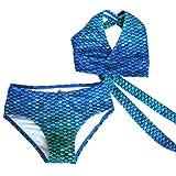 Sun Tails Meerjungfrau Bikini Blue Lagoon JS Neckholder Kinder Erwachse zum Schwimmen