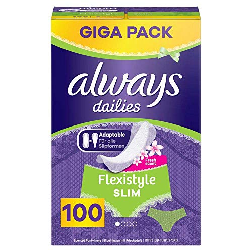 Always Dailies Slipeinlagen Damen Flexistyle Slim Fresh (100 Einlagen) Giga Pack, Mit Dezentem Duft, Passend Für Alle Slipformen