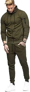 Men's Zipper Patchwork Hoodie Pants Sets Tracksuit Jogging Sweatsuit Activewear