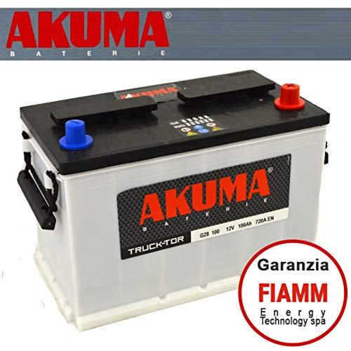 BATTERIA CAMPER AKUMA = FIAMM Energy Technology s.p.a. 100 AH 12V 720A EN ORIGINALE NUOVA