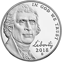 2018 S Proof Jefferson Nickel Choice Uncirculated US Mint
