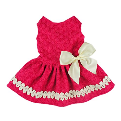 Fitwarm Pink Sweet Pet Dog Dress