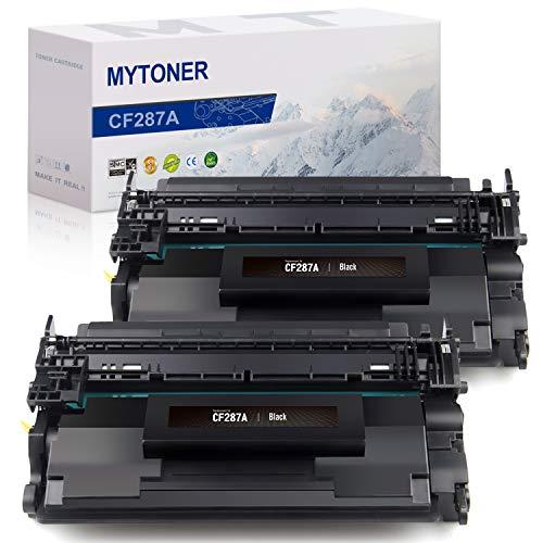 MYTONER Compatible Toner Cartridge Replacement for HP 87A CF287A 87X for Laserjet Enterprise M506 M506dn M506n M506x M527dn Pro M501dn(Black, 2-Pack)