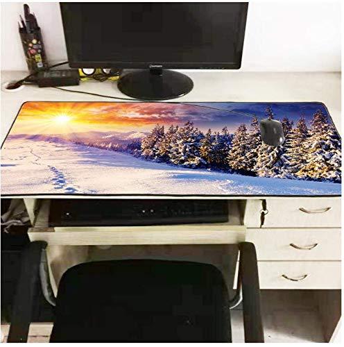 Gaming mauspad Winter Stil Hintergrund Spiel Mousepad Laptop PC Tastatursperre Mauspad Waschbar Tischset Große Größe 300X700X2mm