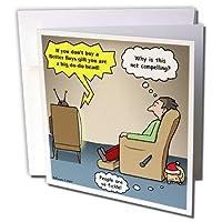 リッチDiesslins面白いクリスマス漫画–クリスマス電子ストア広告–グリーティングカード Set of 12 Greeting Cards