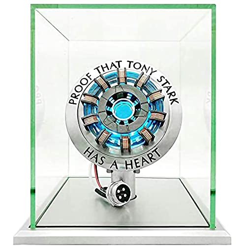 WXHJM MK2 Acryl Tony ARC Reaktor Modell 1: 1,Mit LED-Licht,Iron Man Lichtbogenreaktor DIY Kit USB-Brustlampe,Film Requisiten Zum Sammeln und Verschenken,MK2