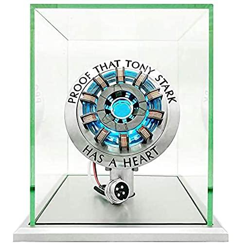 WXHJM MK2 Acrylic Tony ARC Reactor Modelo 1: 1,con Luz LED,Iron Man ARC Reactor Kit de Bricolaje Lámpara de Pecho USB Accesorios de Película,para Colección y Regalo,MK2