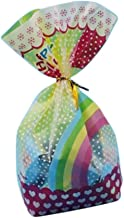 SUNSHINETEK Bolsas de Galletas Autoadhesivas 200 Piezas Favor de Fiesta Bolsas de Caramelo Bolsas de Regalo de pl/ástico para Galletas Paquete para Hornear Punto Blanco, 10 * 10 + 3 cm