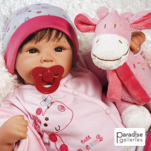 Paradise Galleries Reborn Baby Doll Lifelike Tall Dreams Gift Set Ensemble, 19-inch Weighted Baby, Safety Tested 6 Year Old Girls