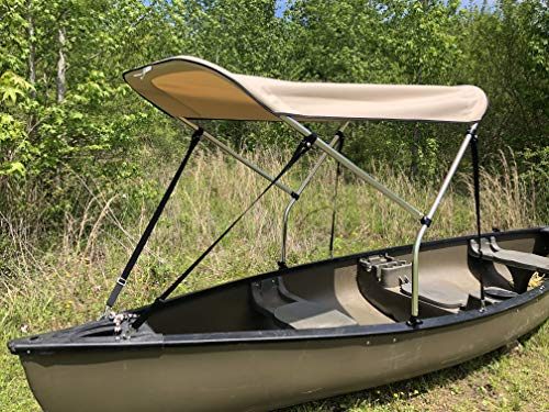 Beige 3' by 5' Canoe/Kayak Sun Shade/Canopy by Cypress Rowe Outfitters