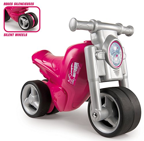 Smoby - 770113 - Porteur Moto - Roues Silencieuses - Rose